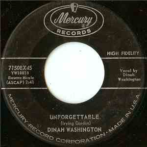 Dinah Washington - Unforgettable / Nothing In The World (Could Make Me Love You More Than I Do)